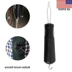Plastic Handle Button Hook & Zipper Pull Mobility Disability