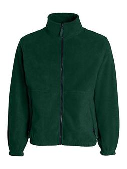 Sierra Pacific Adult Poly Fleece Full Zip Jacket - FOREST GR