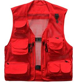 Outdoor Quick-Dry Fishing Vest; Marsway Multi Pockets Mesh V
