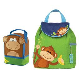 Stephen Joseph Boys Quilted Monkey Backpack and Monkey Lunch