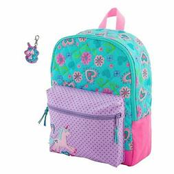 quilted unicorn backpack book bag with zipper