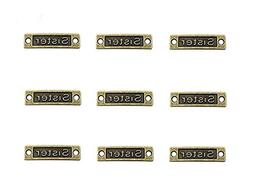"40pcs Rectangle ""Sister"" Charm Pendant Connector for DIY Jew"