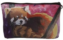 Red Panda Cosmetic Bag, Zip-top Closer - Taken From My Origi