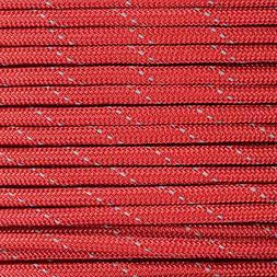Reflective Type III 550 Paracord - Imperial Red - 250 Ft Spo
