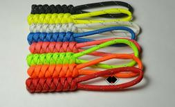 reflective paracord zipper pulls keychain knife lanyard hand