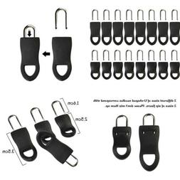 Outus 16 Pieces Replacement Zipper Tags Zip Fixer for Clothe