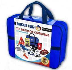 First Secure 90 Piece Roadside Emergency Car and Truck Kit w