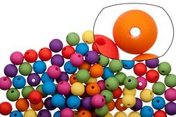Round mix color rubber-tone acrylic beads 10mm sold per pack
