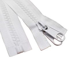 YaHoGa #10 96 Inch Separating Large Plastic Zippers White Wi
