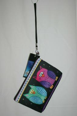 Salvador Kitti Signature Pouch Bag Charm Zipper Pull Owls Pi