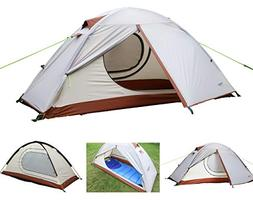 Luxe Tempo Single 1 Person Tent 4 Season 2 Doors with Footpr
