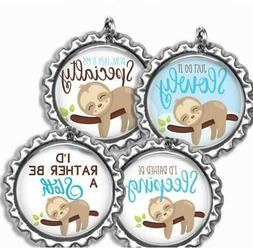Sleepy Sloth Bottle Cap Bag Tag Luggage Id Kids Backpack Zip