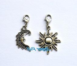 Sun and moon Zipper Pull Purse Charm Decorative Clip On Char