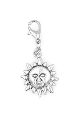 Sun with Face Clip On Charm Perfect for Necklaces and Bracel
