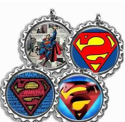 Superman Bottle Cap Sports Bag Tag Luggage Id Kids Backpack