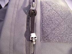 TACTICAL SKULL ZIPPER PULL. FITS JACKETS, BACKPACKS,BUG OUT