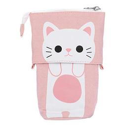 Telescopic Store Pencil Case Box,Mintu 1PC Canvas Cartoon Cu
