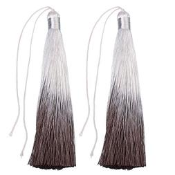 Linsoir Beads Fashion Trend Ombre Tassels Dyed Brown Gradien
