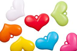 Wide heart mix color opaque acrylic charms 44x30mm sold per