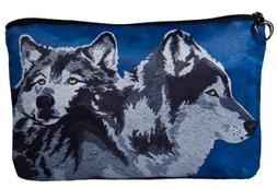 Wolves Cosmetic Bag, Wolf Zip-top Closer - Taken From My Ori