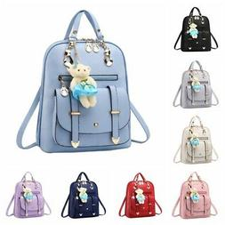 Womens Backpack PU Leather Backpack Multi-Way Casual Shoulde