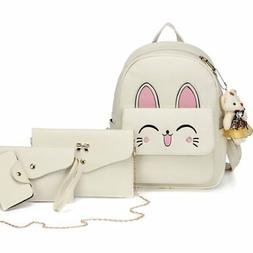 womens cat backpack set leather multi way