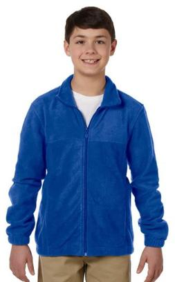 youth zip fleece m royal