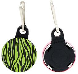 Rikki Knight Zebra Design on Lime Green Design 1 inch Zipper