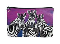 Zebra Zipper Pouch - Support Wildlife Conservation - From My