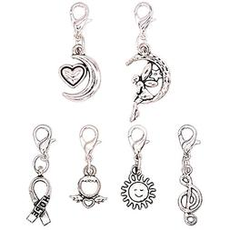 Ascrafter Small Zipper Pull Charms - Set of 6 - Knitting Sti