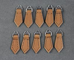WellieSTR 10PCS Zipper Pulls 10 Pack - For Leather Boot/Jack